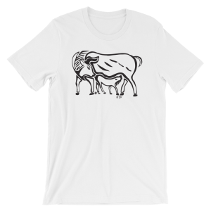 calf and cow t-shirt